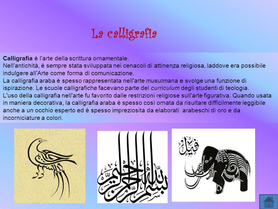 Calligrafia è l'arte della scrittura ornamentale. Nell'antichità, è sempre stata sviluppata nei cenacoli di attinenza religiosa, laddove era possibile