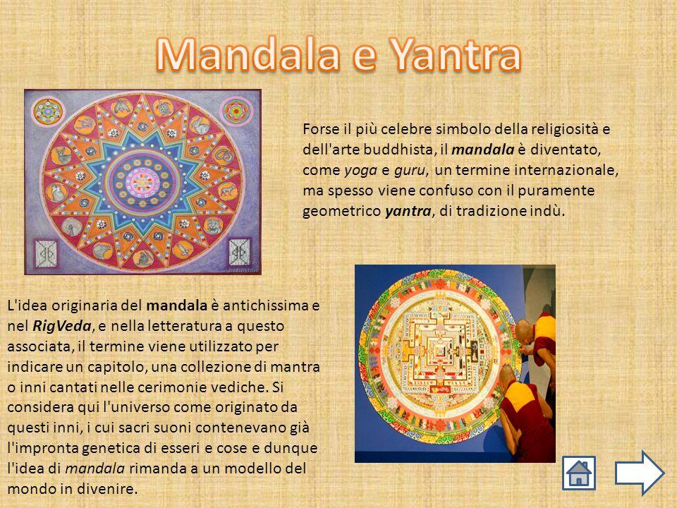 Forse il più celebre simbolo della religiosità e dell'arte buddhista, il mandala è diventato, come yoga e guru, un termine internazionale, ma spesso v