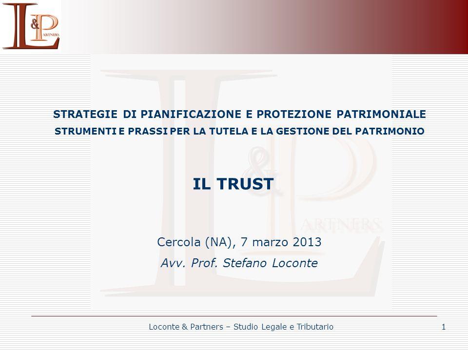 IL TRUST TRUST DI SCOPO Latto istitutivo non designa alcun beneficiario nè prevede che venga successivamente individuato.