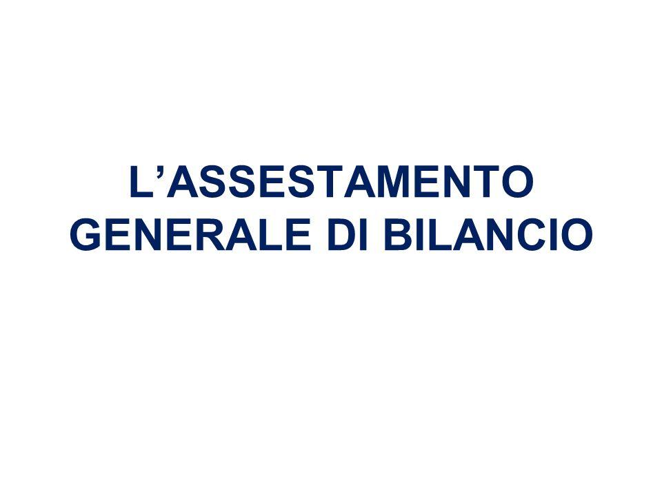 LASSESTAMENTO GENERALE DI BILANCIO