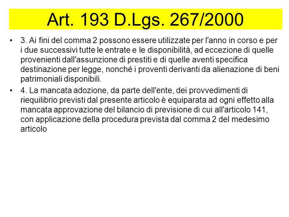 Art.193 D.Lgs. 267/2000 3.