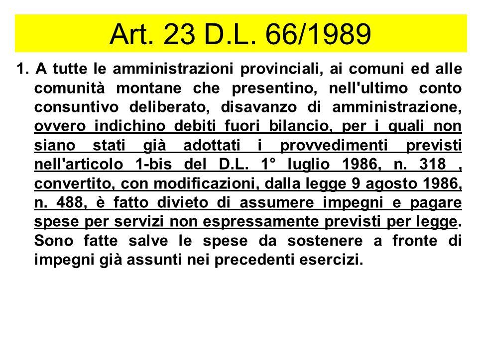 Art.23 D.L. 66/1989 1.