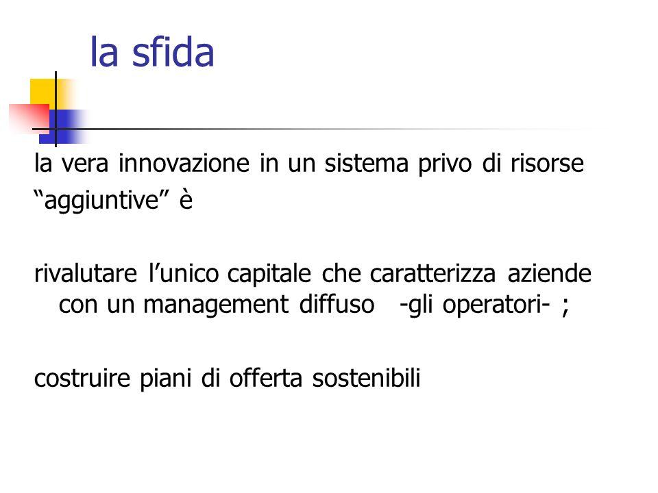 la sfida la vera innovazione in un sistema privo di risorse aggiuntive è rivalutare lunico capitale che caratterizza aziende con un management diffuso