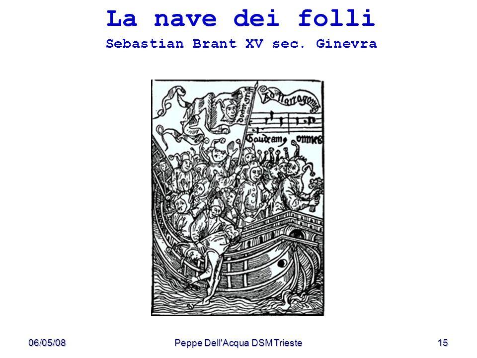 06/05/08Peppe Dell'Acqua DSM Trieste15 La nave dei folli Sebastian Brant XV sec. Ginevra