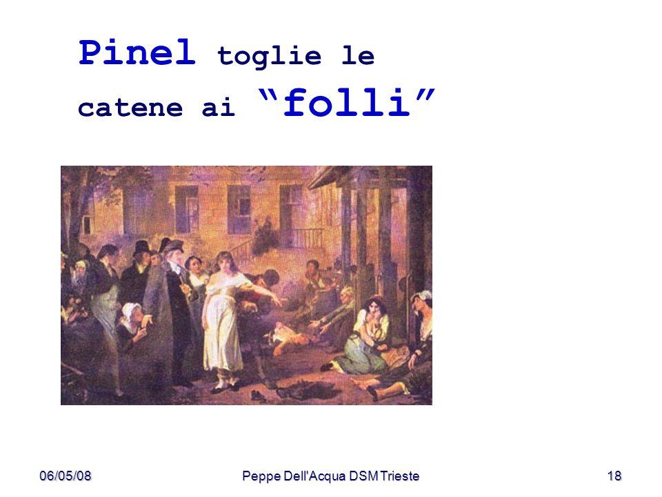 06/05/08Peppe Dell'Acqua DSM Trieste18 Pinel toglie le catene ai folli