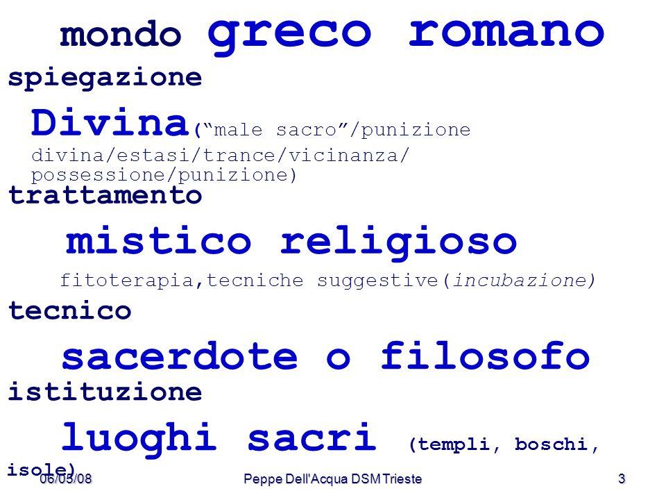 06/05/08Peppe Dell Acqua DSM Trieste4 mondo greco romano (Ippocrate, V sec.