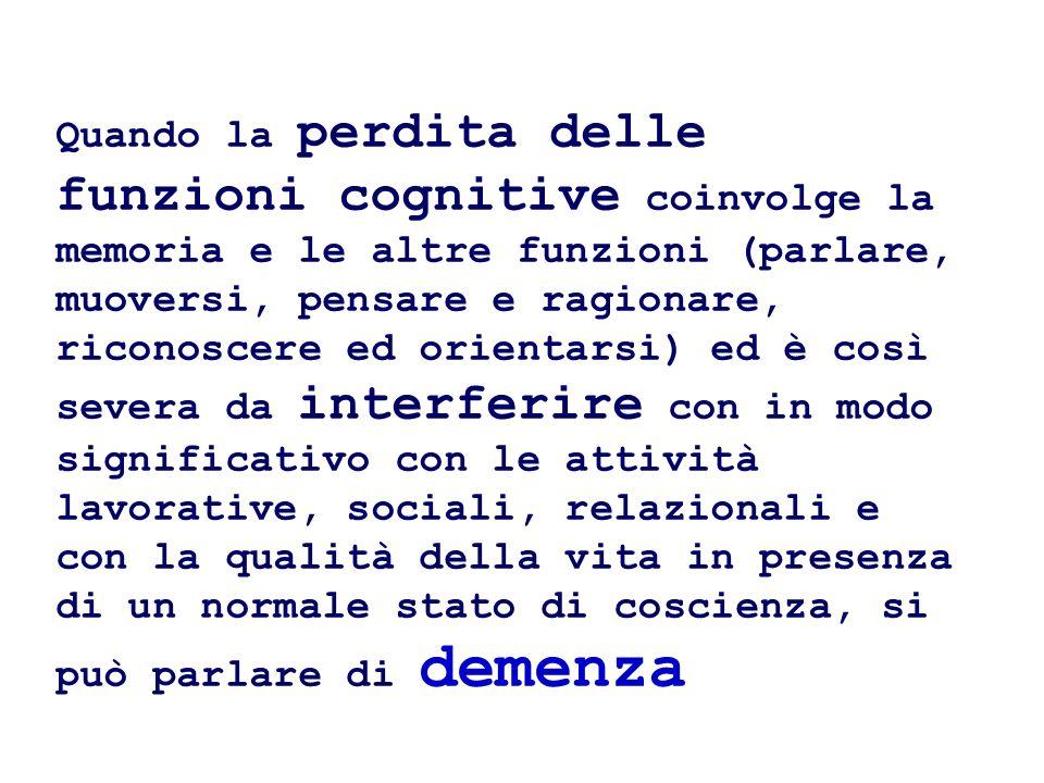 demenza a corpi di Lewy (LBD) caratterizzata da parkinsonismo e declino cognitivo con sintomi psicotici.