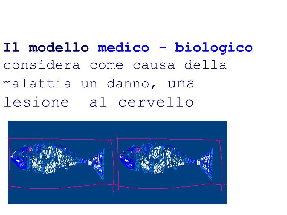 Il modello medico - biologico considera come causa della malattia un danno, una lesione al cervello