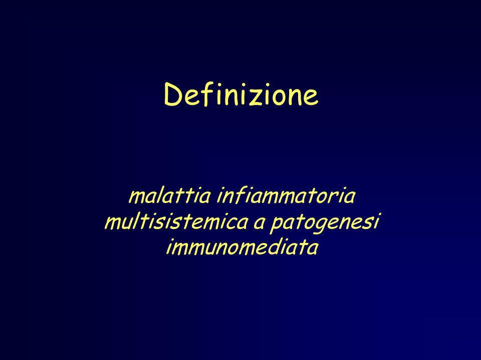 Definizione malattia infiammatoria multisistemica a patogenesi immunomediata