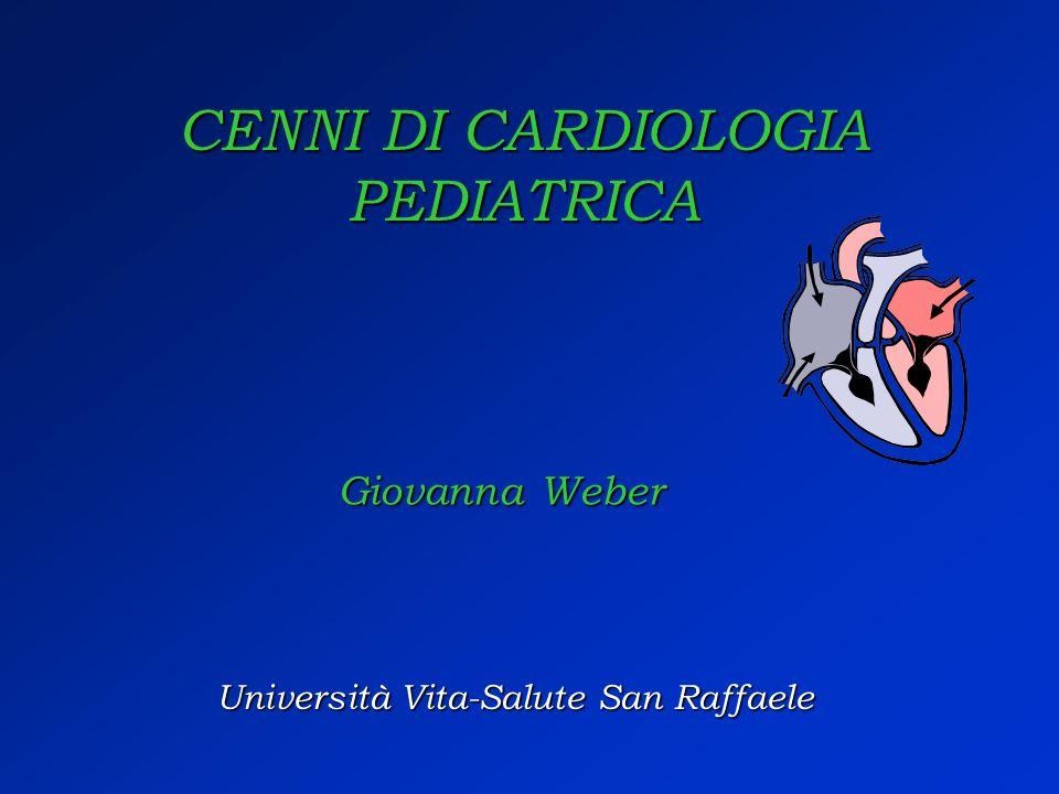 CENNI DI CARDIOLOGIA PEDIATRICA Università Vita-Salute San Raffaele Giovanna Weber