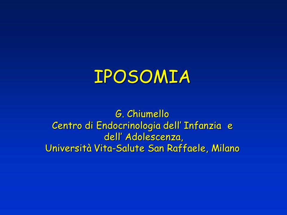 IPOSOMIA G. Chiumello Centro di Endocrinologia dell Infanzia e dell Adolescenza, Università Vita-Salute San Raffaele, Milano