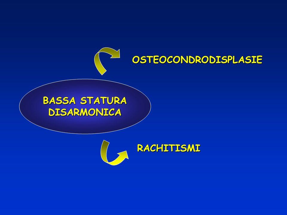 BASSA STATURA DISARMONICA OSTEOCONDRODISPLASIE RACHITISMI