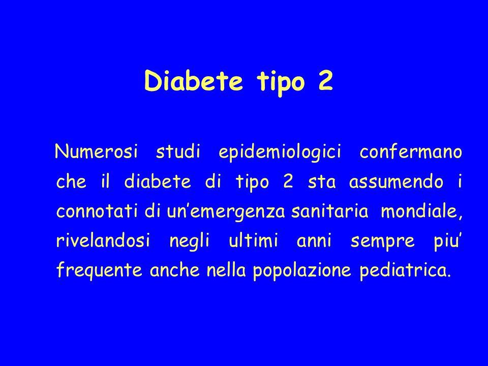 Diabete tipo 2 Numerosi studi epidemiologici confermano che il diabete di tipo 2 sta assumendo i connotati di unemergenza sanitaria mondiale, riveland