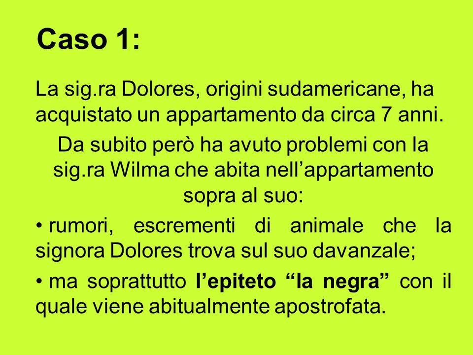 Caso 1: La sig.ra Dolores, origini sudamericane, ha acquistato un appartamento da circa 7 anni.