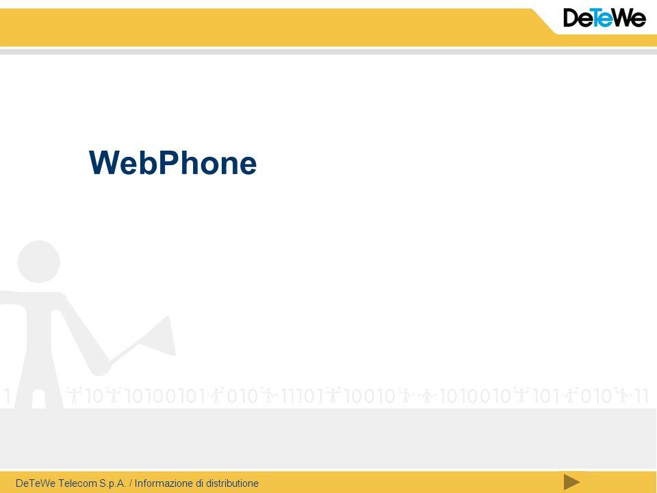 DeTeWe Telecom S.p.A. / Informazione di distributione WebPhone