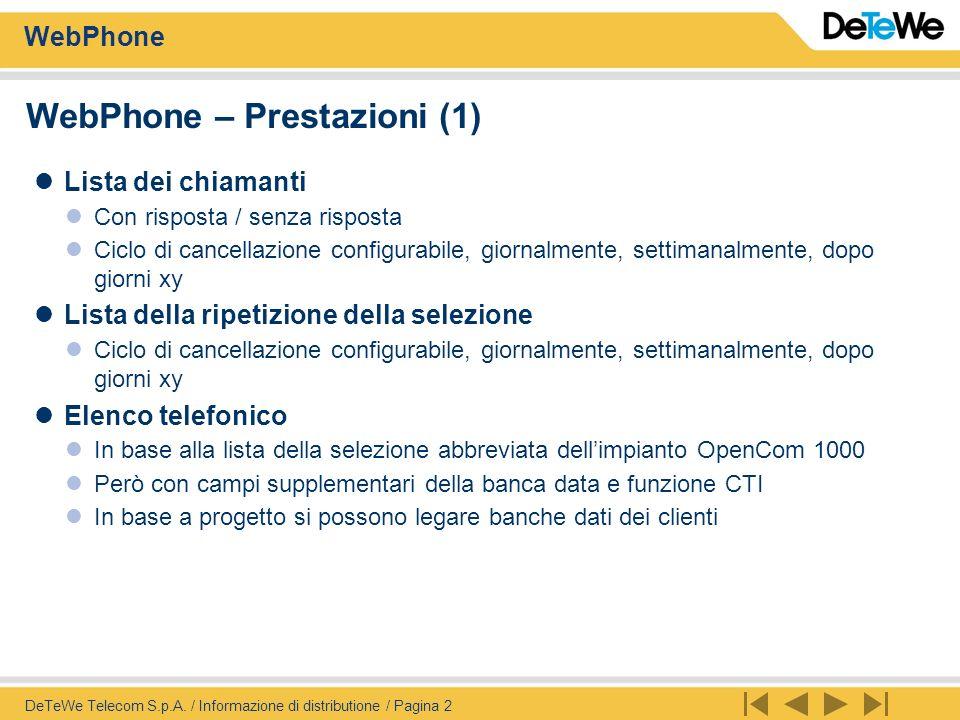 WebPhone DeTeWe Telecom S.p.A.