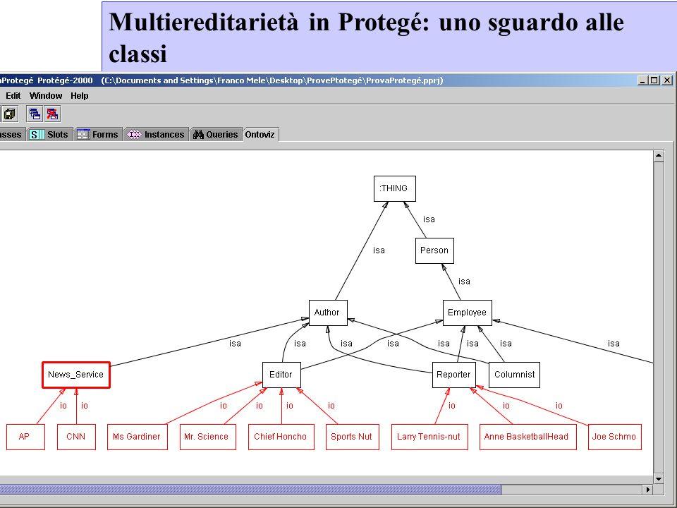 Mele Francesco Corso Informatica per il Design Generativo Facoltà di Architettura SUN AA 2007-2008 Multiereditarietà in Protegé: uno sguardo alle classi
