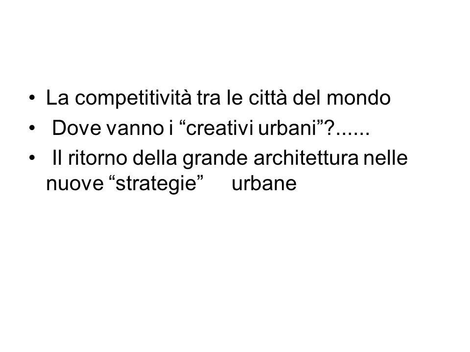 La competitività tra le città del mondo Dove vanno i creativi urbani ......
