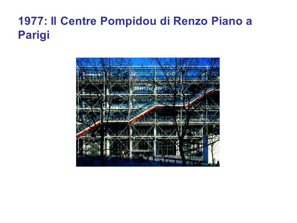 1977: Il Centre Pompidou di Renzo Piano a Parigi
