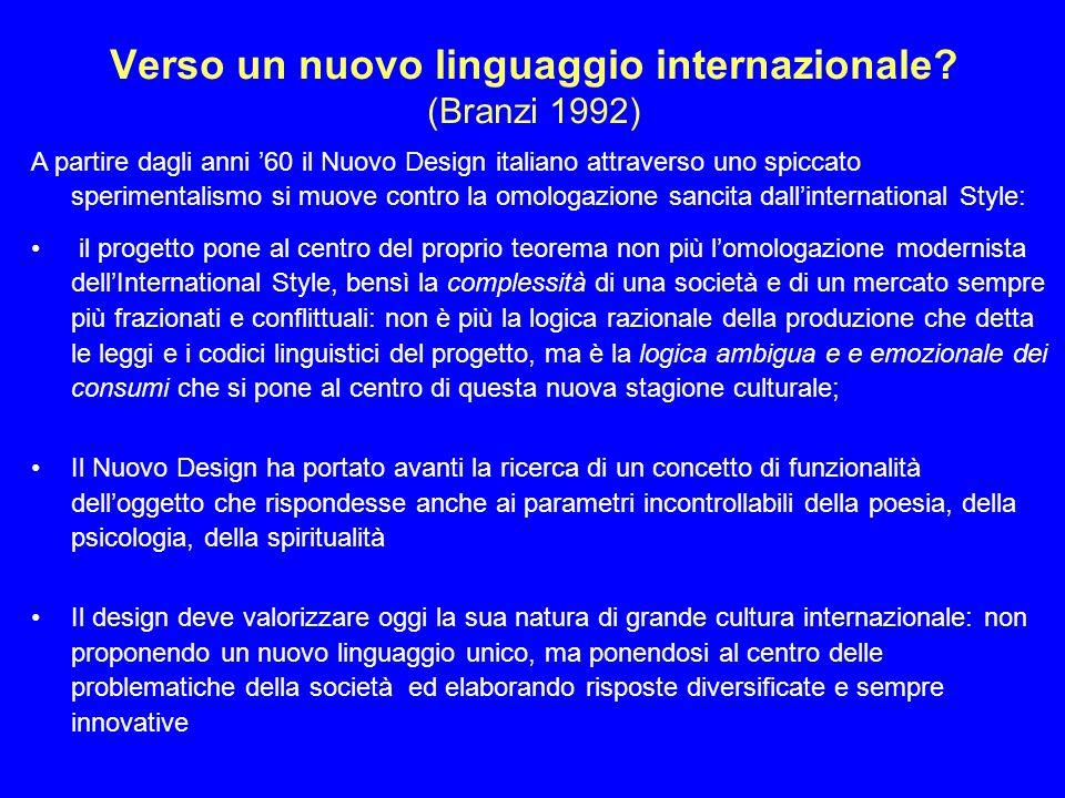 Verso un nuovo linguaggio internazionale.