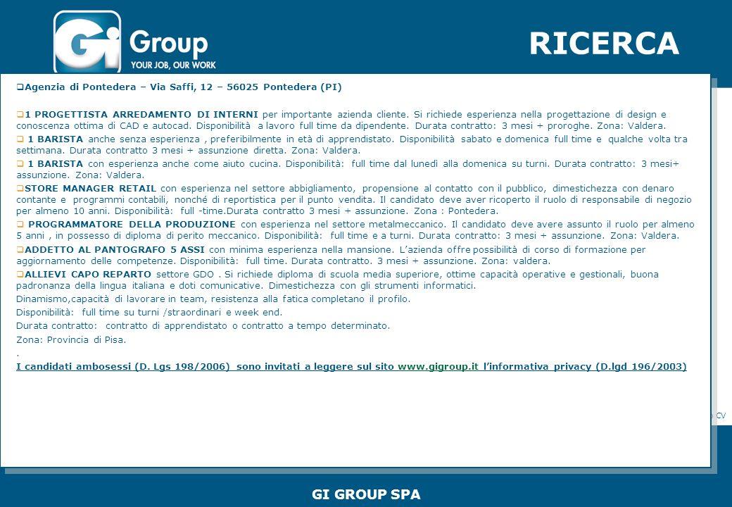 RICERCA GENERALE INDUSTRIELLE SPA Agenzia di Xxxxxxx – Xxx Xxxxxxx, X – xxxx Xxxx Xxxxx Xxxxxxxxx xxxxxxxxxxxxxxxxxxxxxxxxxxxx www.generaleindustriell