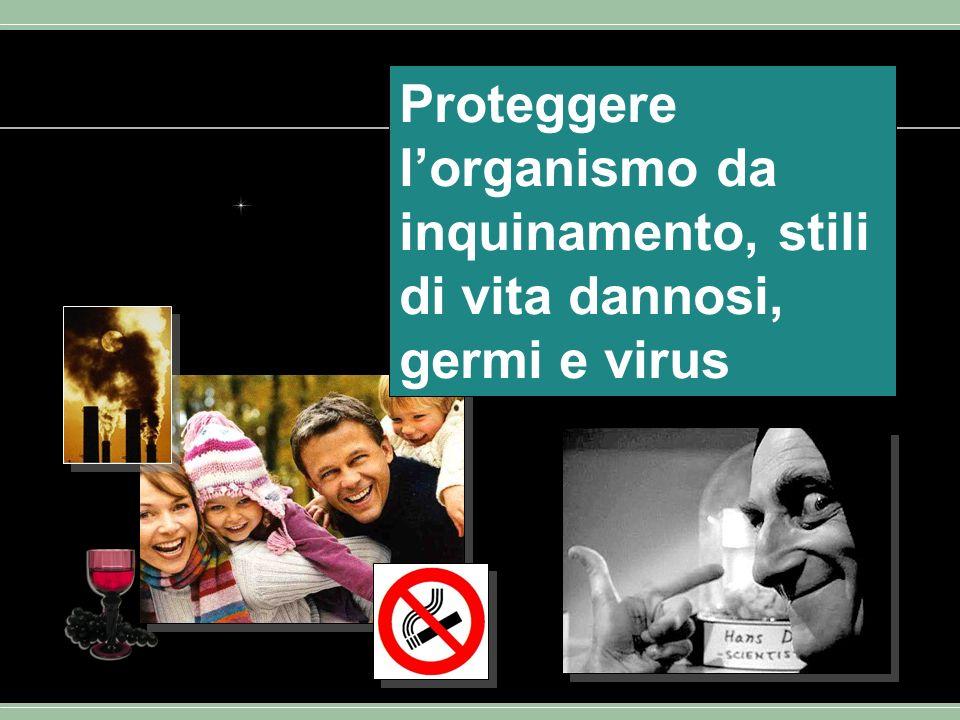 Proteggere lorganismo da inquinamento, stili di vita dannosi, germi e virus