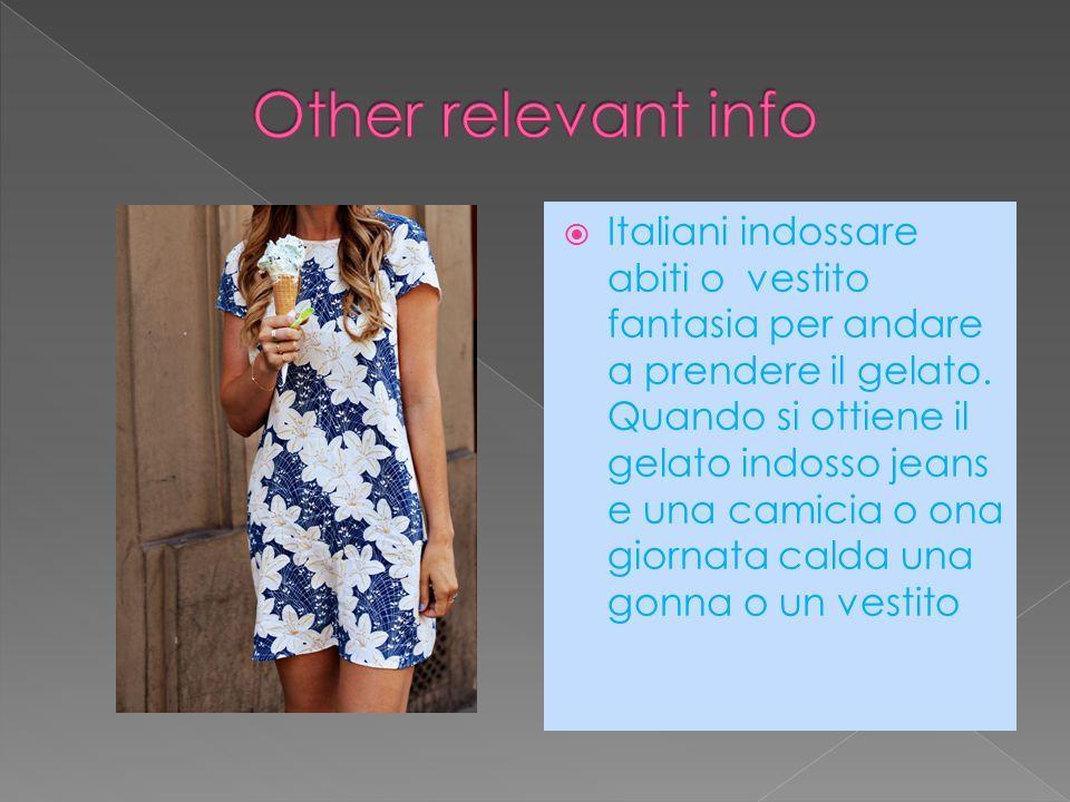Italiani indossare abiti o vestito fantasia per andare a prendere il gelato.