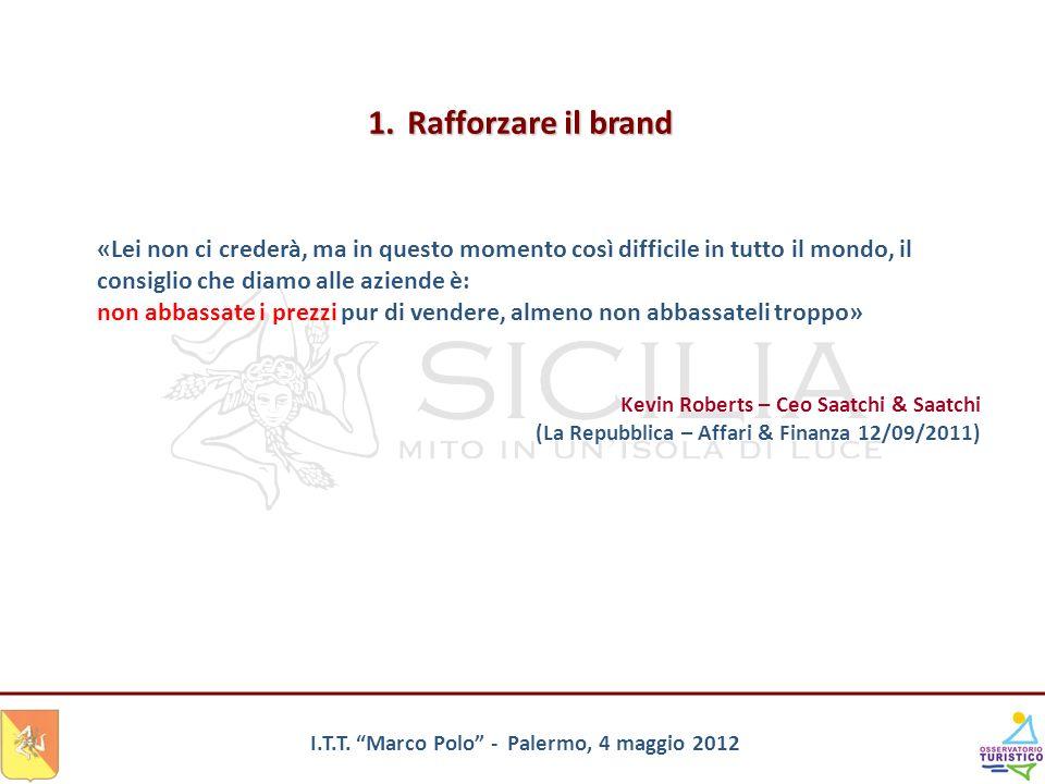 I.T.T. Marco Polo - Palermo, 4 maggio 2012 «Lei non ci crederà, ma in questo momento così difficile in tutto il mondo, il consiglio che diamo alle azi