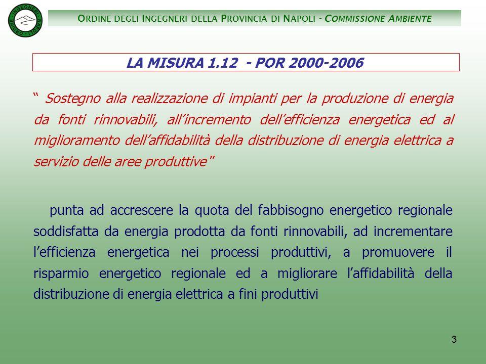 O RDINE DEGLI I NGEGNERI DELLA P ROVINCIA DI N APOLI - C OMMISSIONE A MBIENTE 14......................