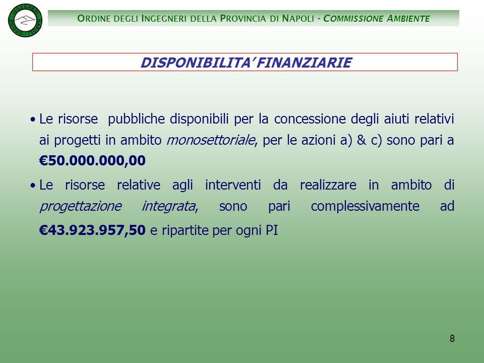 O RDINE DEGLI I NGEGNERI DELLA P ROVINCIA DI N APOLI - C OMMISSIONE A MBIENTE 29 San Giuseppe Vesuviano...........................