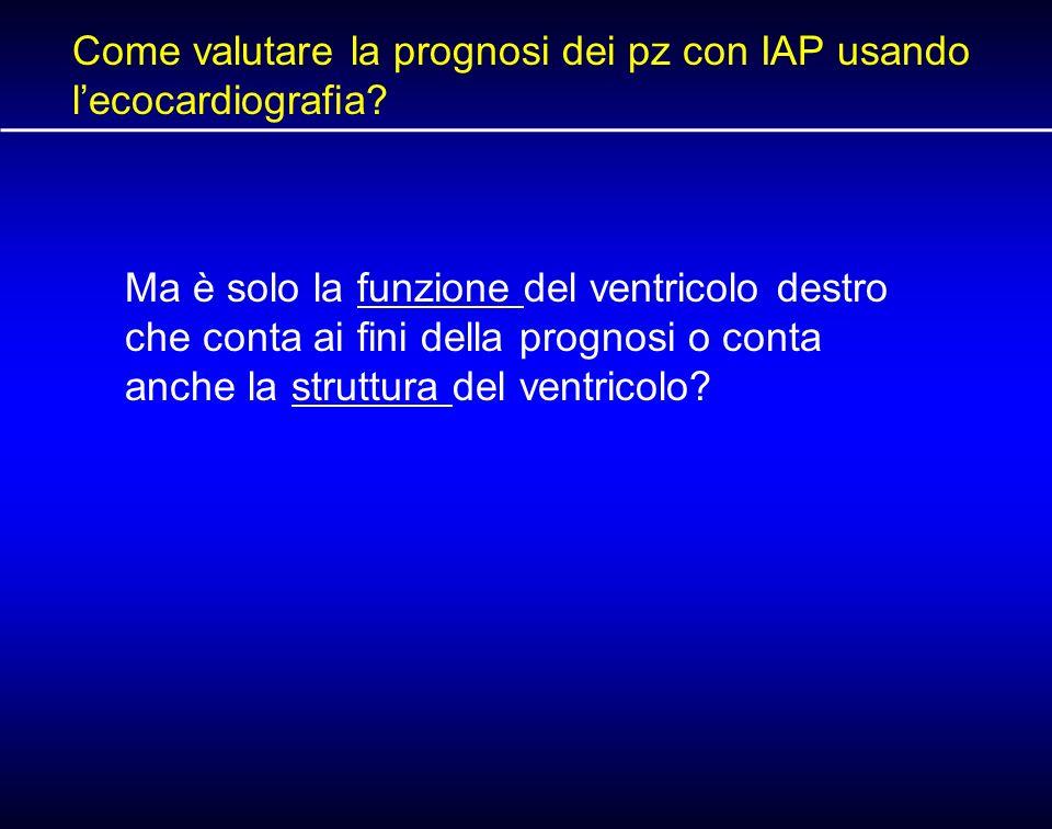 Ma è solo la funzione del ventricolo destro che conta ai fini della prognosi o conta anche la struttura del ventricolo? Come valutare la prognosi dei