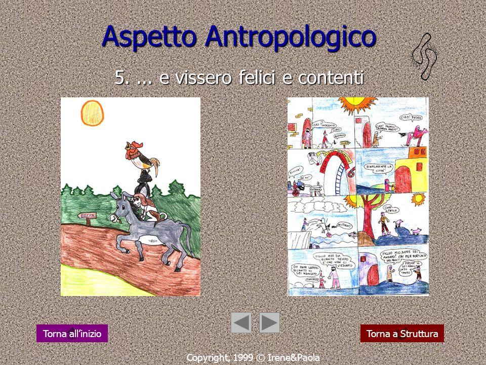 Aspetto Antropologico 4. camminare: cera una volta... Copyright, 1999 © Irene&Paola Torna a StrutturaTorna allinizio
