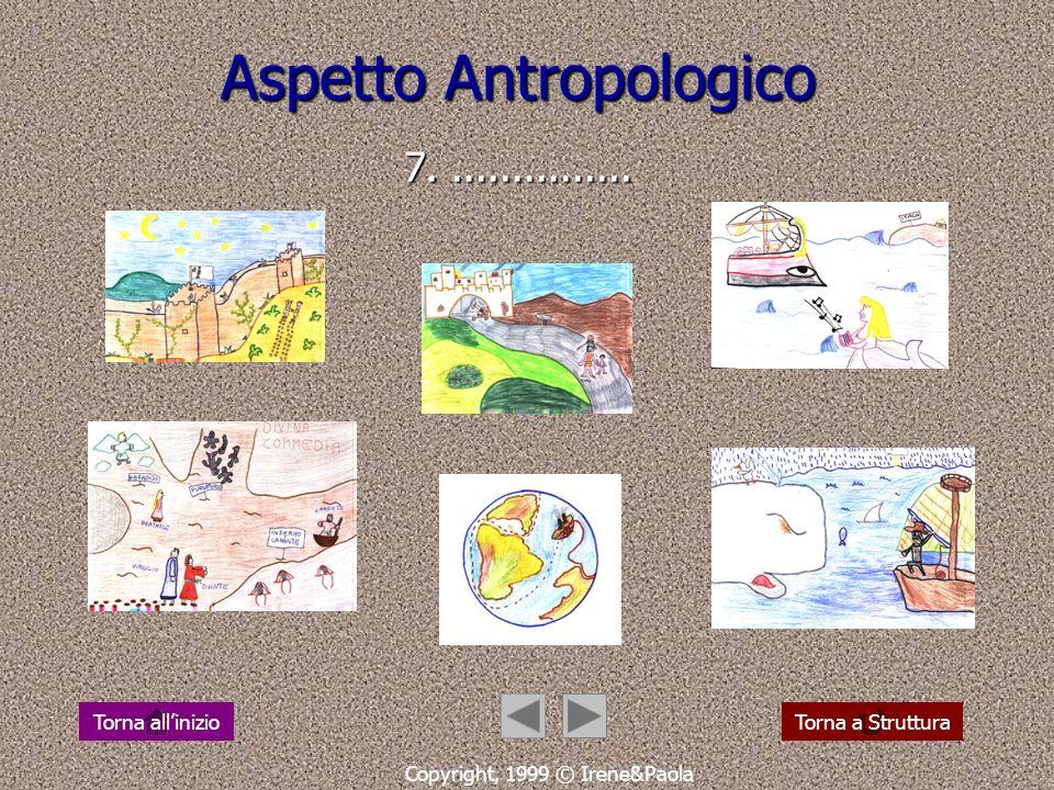 Aspetto Antropologico 6. camminare per trovare... Copyright, 1999 © Irene&Paola Torna a StrutturaTorna allinizio