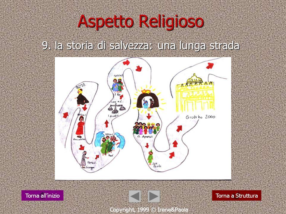 Aspetto Antropologico 8. educare a camminare (M. Montessori) Copyright, 1999 © Irene&Paola Torna a StrutturaTorna allinizio