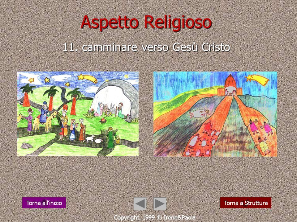 Aspetto Religioso 10. camminare verso una promessa Copyright, 1999 © Irene&Paola Torna a StrutturaTorna allinizio