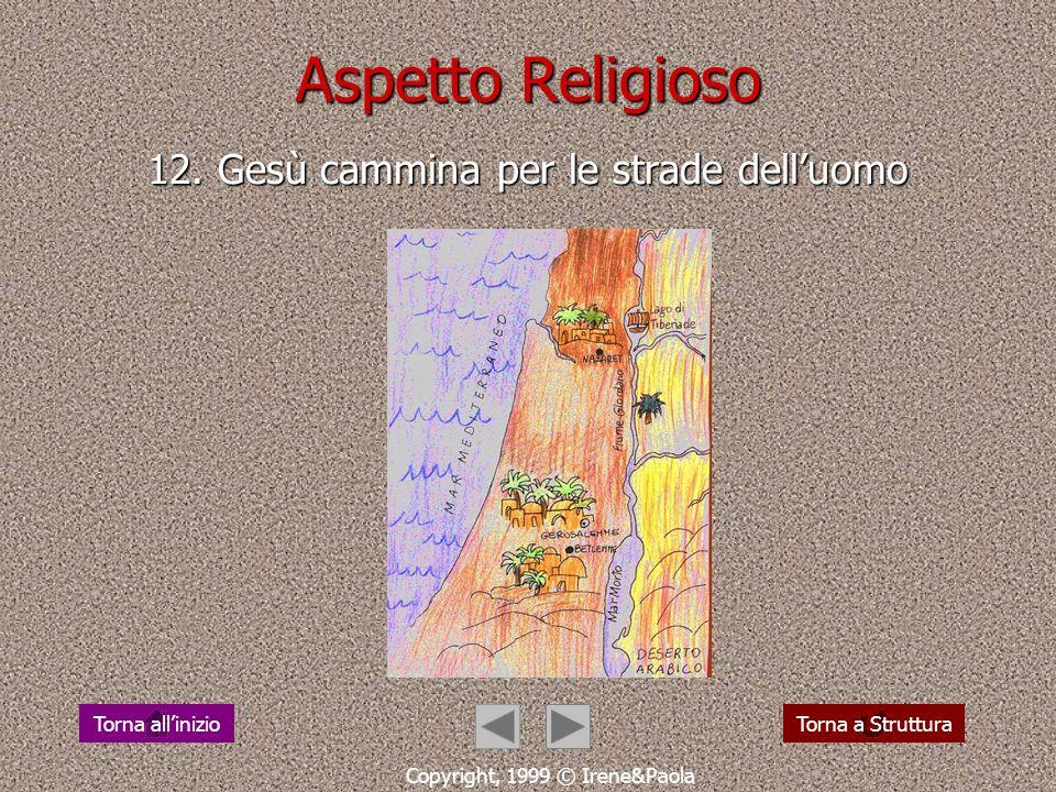Aspetto Religioso 11. camminare verso Gesù Cristo Copyright, 1999 © Irene&Paola Torna a StrutturaTorna allinizio