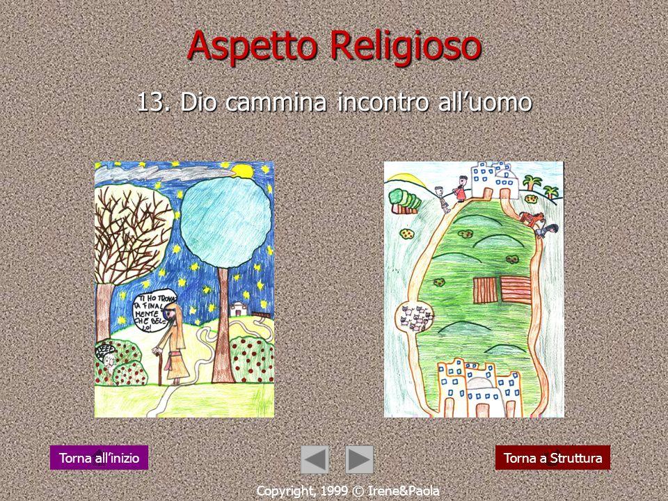 Aspetto Religioso 12. Gesù cammina per le strade delluomo Copyright, 1999 © Irene&Paola Torna a StrutturaTorna allinizio