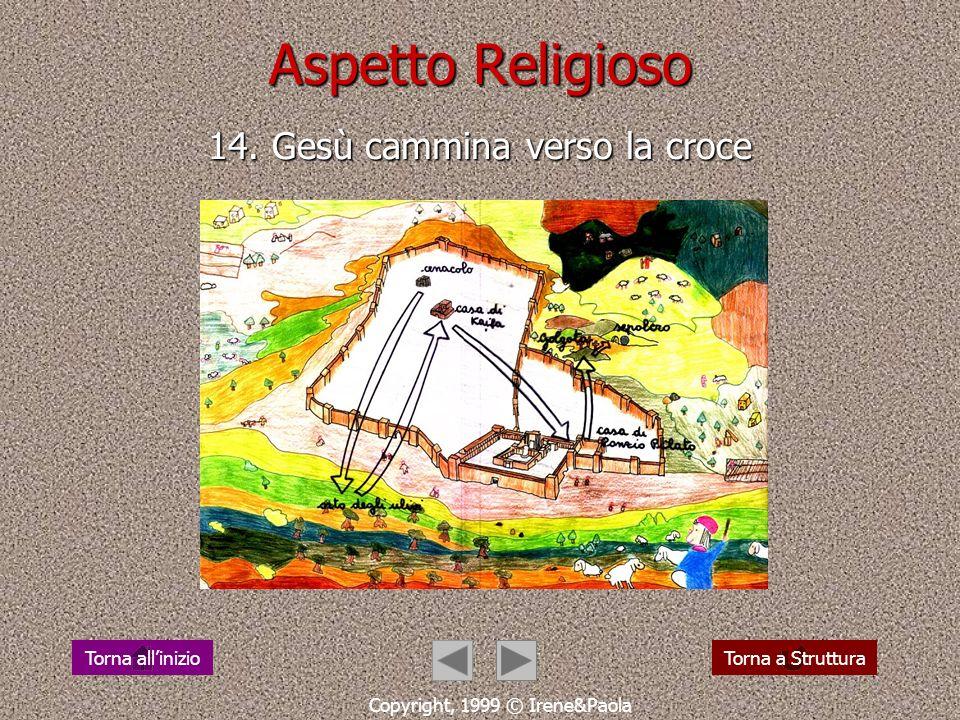 Aspetto Religioso 13. Dio cammina incontro alluomo Copyright, 1999 © Irene&Paola Torna a StrutturaTorna allinizio