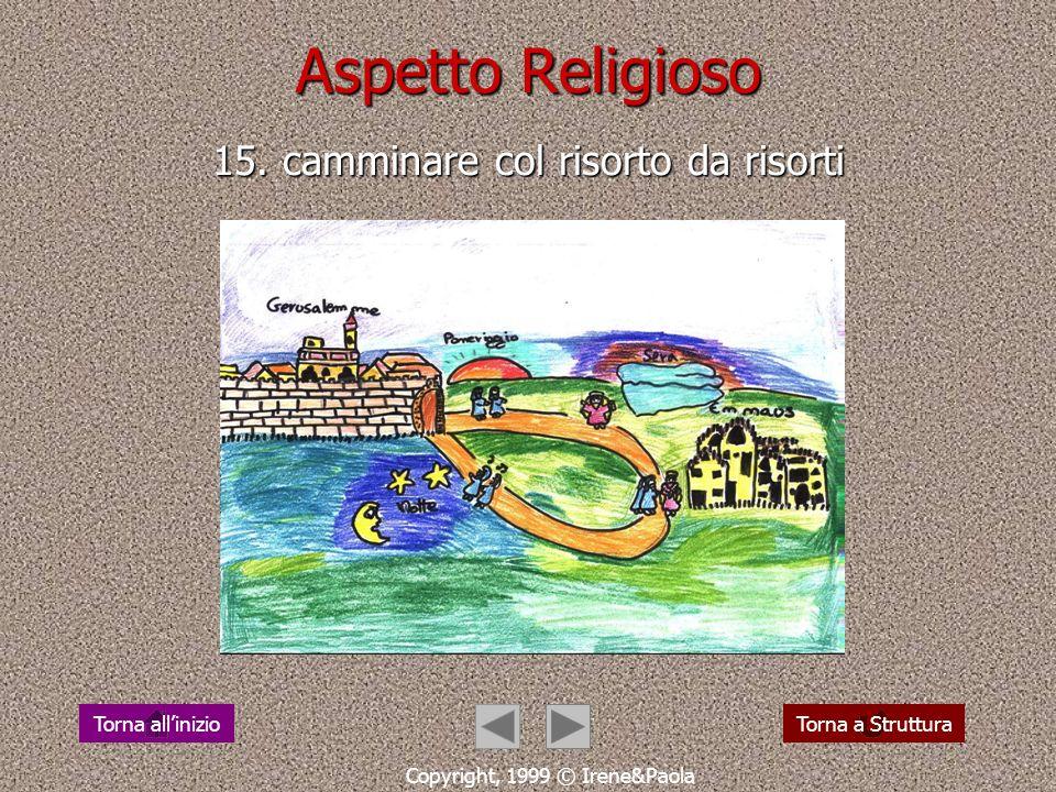 Aspetto Religioso 14. Gesù cammina verso la croce Copyright, 1999 © Irene&Paola Torna a StrutturaTorna allinizio