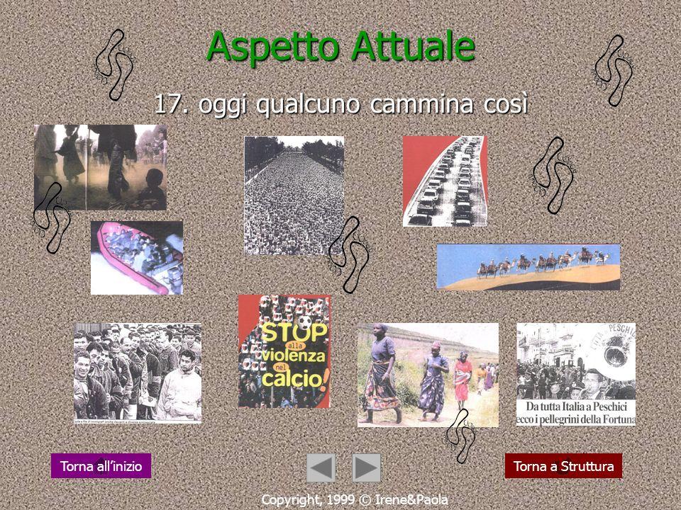 Aspetto Religioso 16. un annuncio che cammina Copyright, 1999 © Irene&Paola Torna a StrutturaTorna allinizio