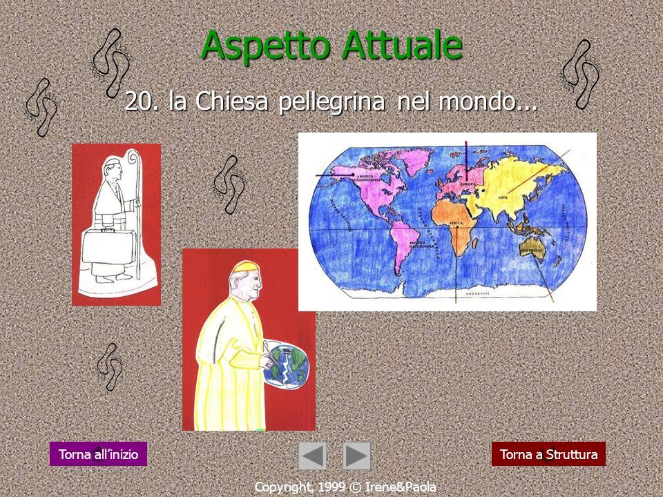 Aspetto Attuale 19. camminare: fede e vita Copyright, 1999 © Irene&Paola Torna a StrutturaTorna allinizio