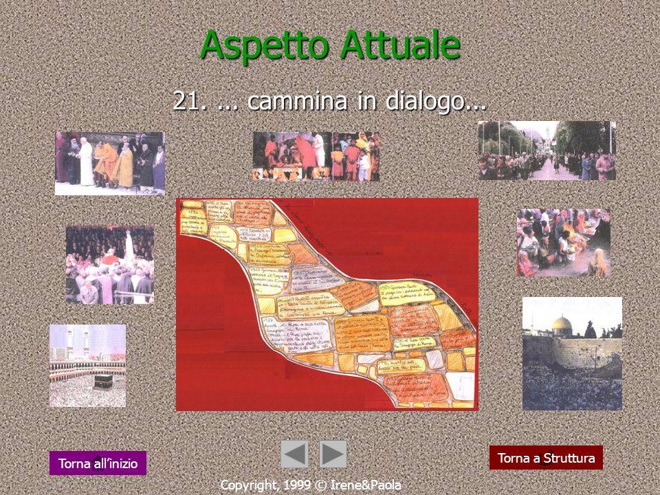 Aspetto Attuale 20. la Chiesa pellegrina nel mondo... Copyright, 1999 © Irene&Paola Torna a StrutturaTorna allinizio