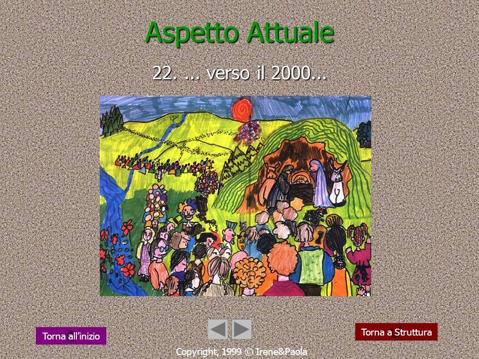 Aspetto Attuale 21.... cammina in dialogo... Copyright, 1999 © Irene&Paola Torna a Struttura Torna allinizio
