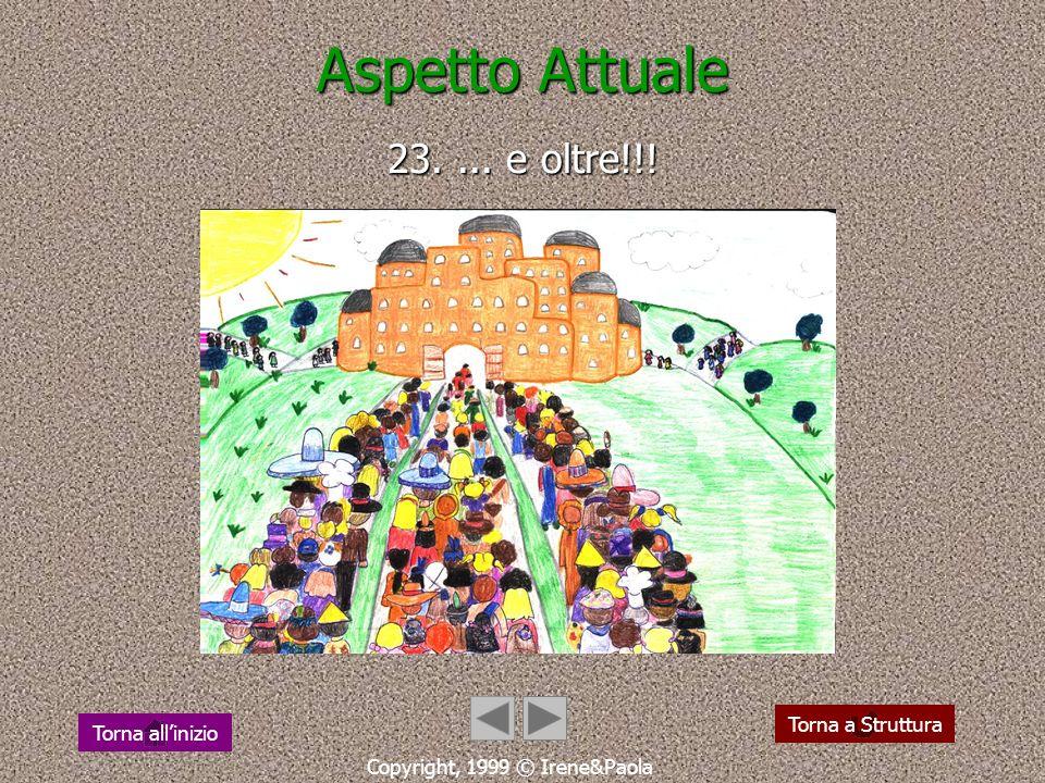 Aspetto Attuale 22.... verso il 2000... Copyright, 1999 © Irene&Paola Torna a Struttura Torna allinizio