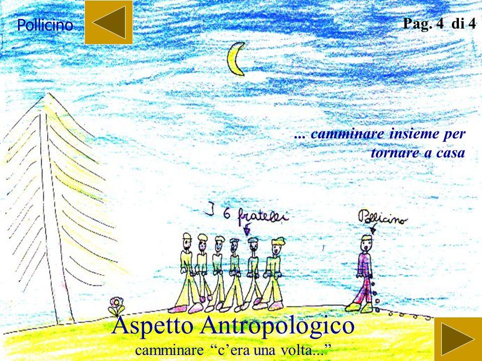 Aspetto Antropologico camminare cera una volta... Pag. 3 di 4 Hansel e Gretel... camminare insieme per tornare a casa