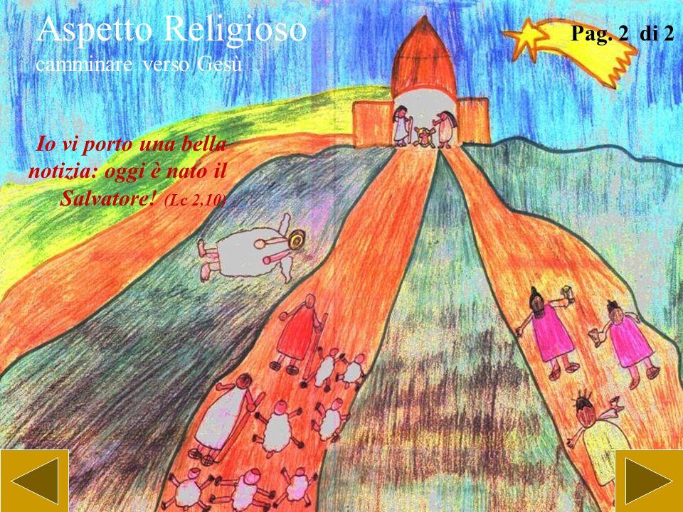 Aspetto Religioso camminare verso Gesù Pag. 1 di 2 Io vi porto una bella notizia: oggi è nato il Salvatore! (Lc 2,10)