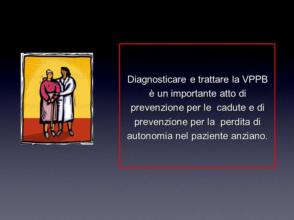 Diagnosticare e trattare la VPPB è un importante atto di prevenzione per le cadute e di prevenzione per la perdita di autonomia nel paziente anziano.