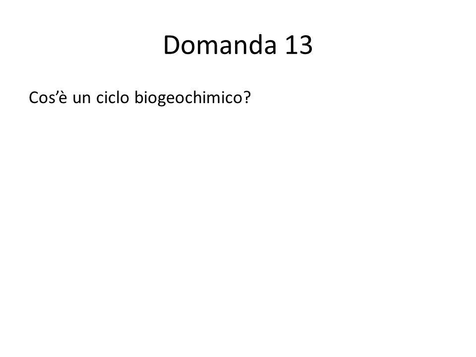 Domanda 13 Cosè un ciclo biogeochimico 54433332210000