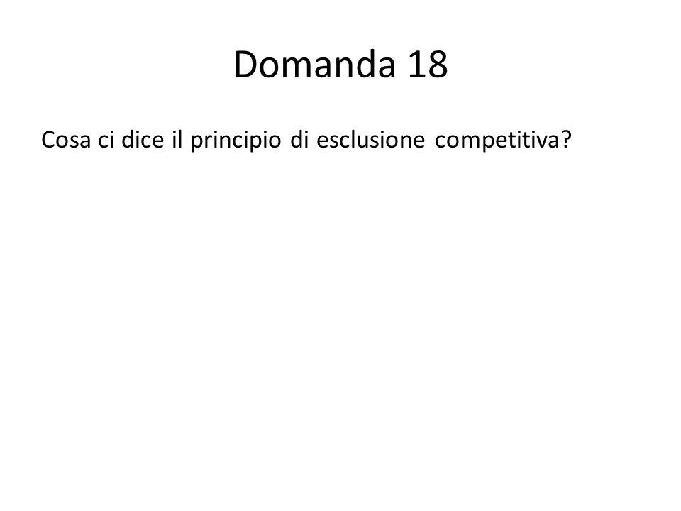 Domanda 18 Cosa ci dice il principio di esclusione competitiva 54444411100000