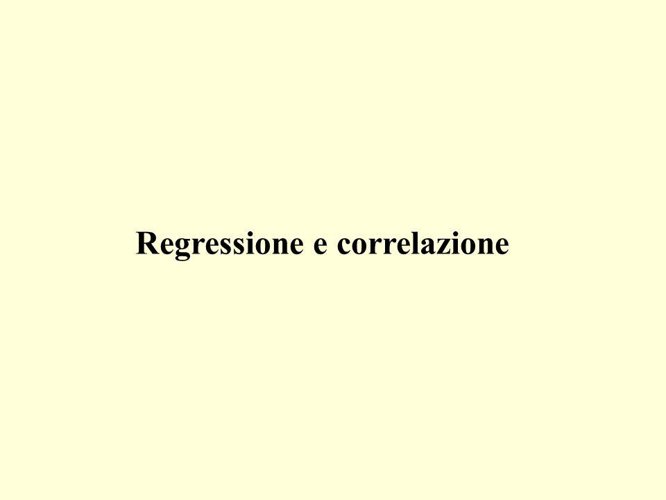 (1)Se cè una relazione di dipendenza fra due variabili, ovvero se il valore di una variabile (dipendente) si può determinare come funzione di una seconda variabile (indipendente), allora si può usare una regressione.